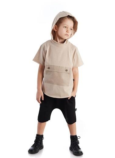 Colorinas Pocket Mask Hoody T-Shirt Taş